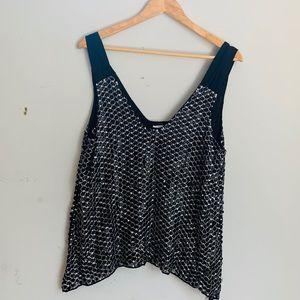 Parker beaded sequin blouse